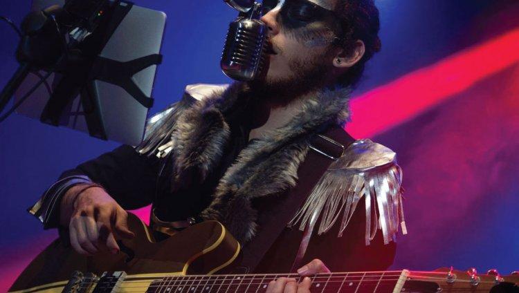 Johann Aranzalez, cantante de Electric Sasquatch. Foto tomada del Facebook de la banda.