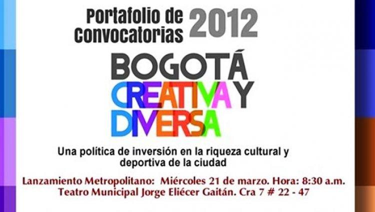 Convocatorias Bogotá Creativa y Diversa