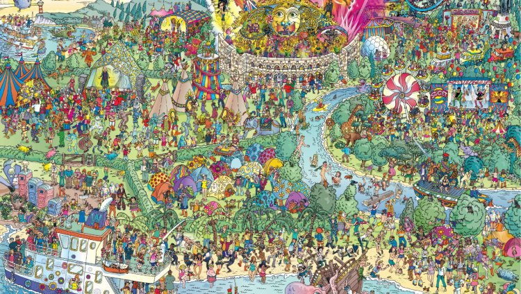 Encuentren a su artista favorito en este mapa de '¿Dónde está Wally?'