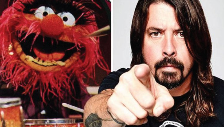 Animal y Dave Grohl.