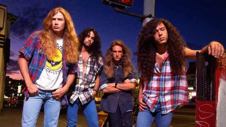 Megadeth en los noventa: Dave Mustaine, Nick Menza, Dave Eleffson y Marty Friedman