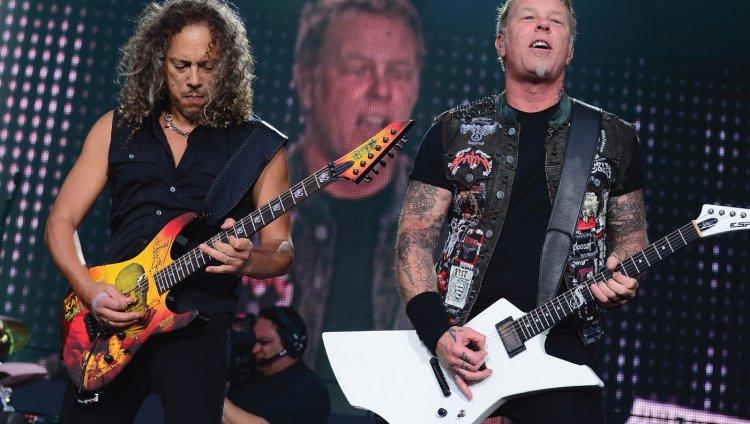 Metallica en vivo. Foto AFP.
