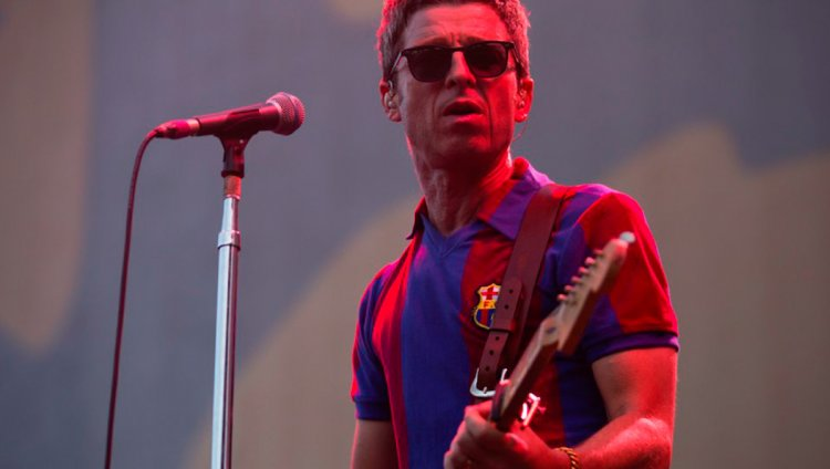 Noel Gallagher en Barcelona. Foto de Ross Stewart.
