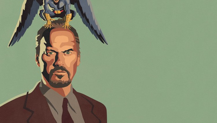 Imagen del póster de Birdman, cinta de 2014.