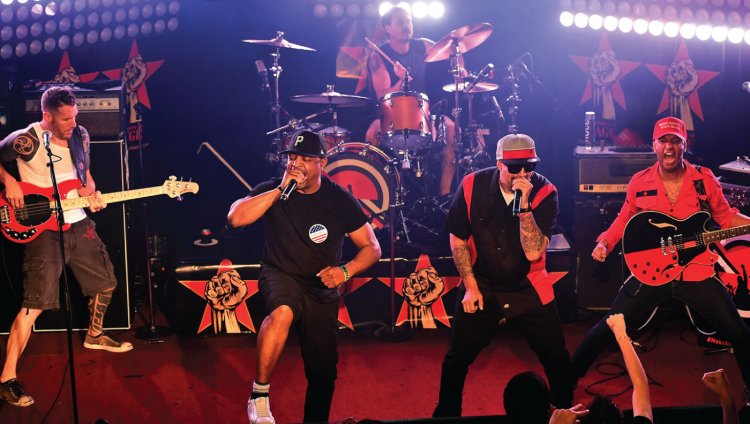 Prophets of Rage en acción.