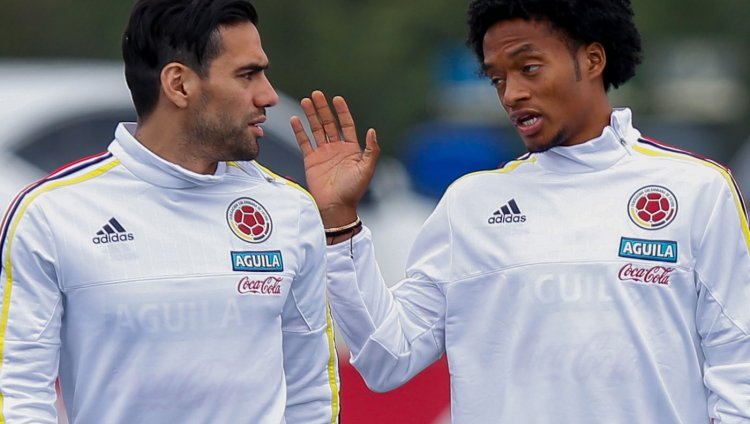 Falcao García y Juan Cuadrado. Foto: Colprensa.
