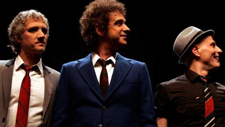 Charly Alberti, Gustavo Cerati y Zeta Bosio.