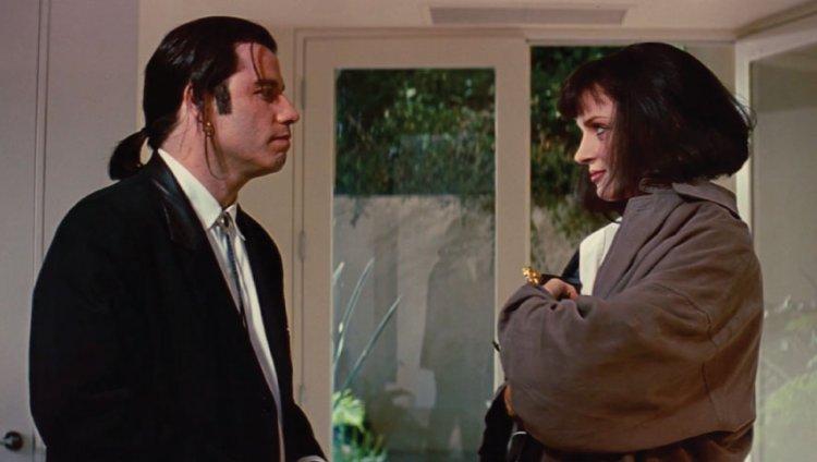 Vincent Vega y Mia Wallace en escena.