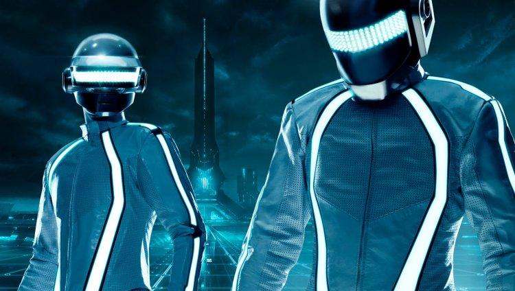 El dúo electrónico francés Daft Punk en Tron Legacy
