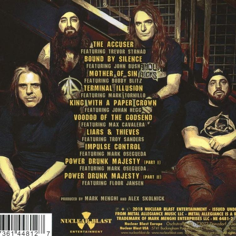 No. 8 'Vol. 2 - Power Drunk Majesty' de Metal Allegiance (Nuclear Blast)