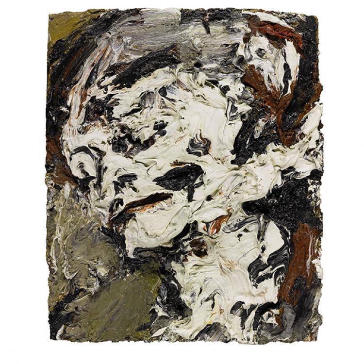 """""""Cabeza de Gerda Boehm"""" de Frank Auerbach. £300.000 - 500.000"""