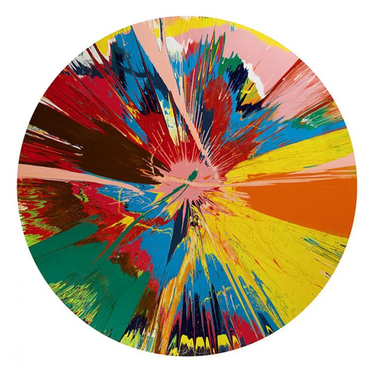 Varniz sobre lienzo de Damien Hirst. £250.000 - 350.000
