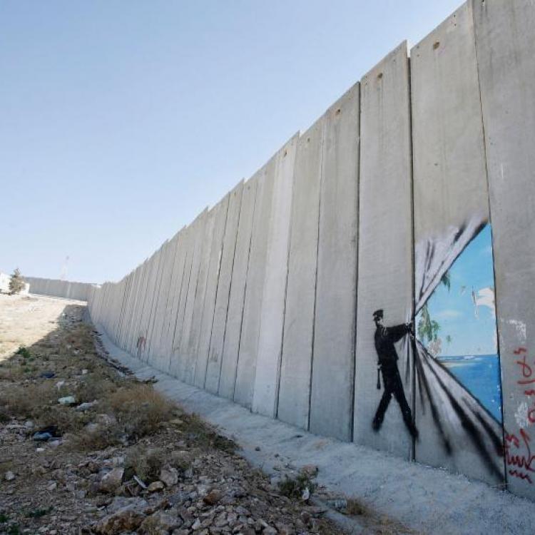 Abu Dis, Cisjordania- Agosto 6, 2005.