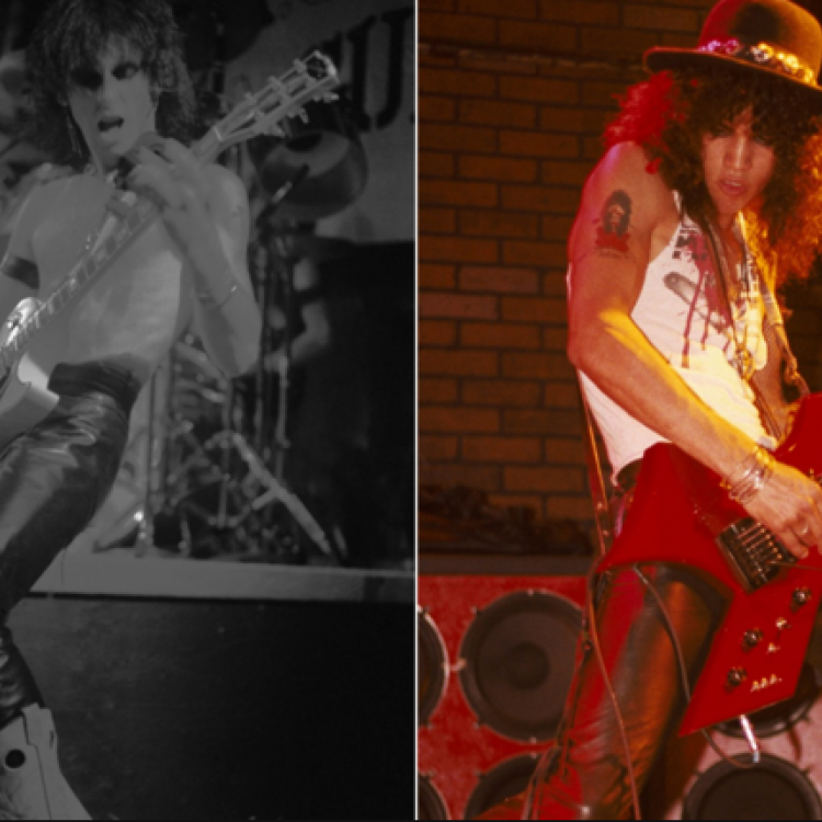 Axl Rose, Izzy Stradlin, Slash, Duff McKagan, Rob Gardner 1985