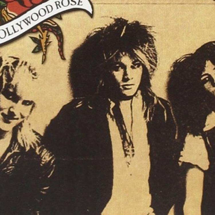 Axl Rose, Izzy Stradlin, Chris Weber, Johnny Kreiss. Hollywood Rose, 1983