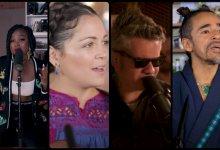 Collage con capturas de pantalla de Tiny Desk Concerts