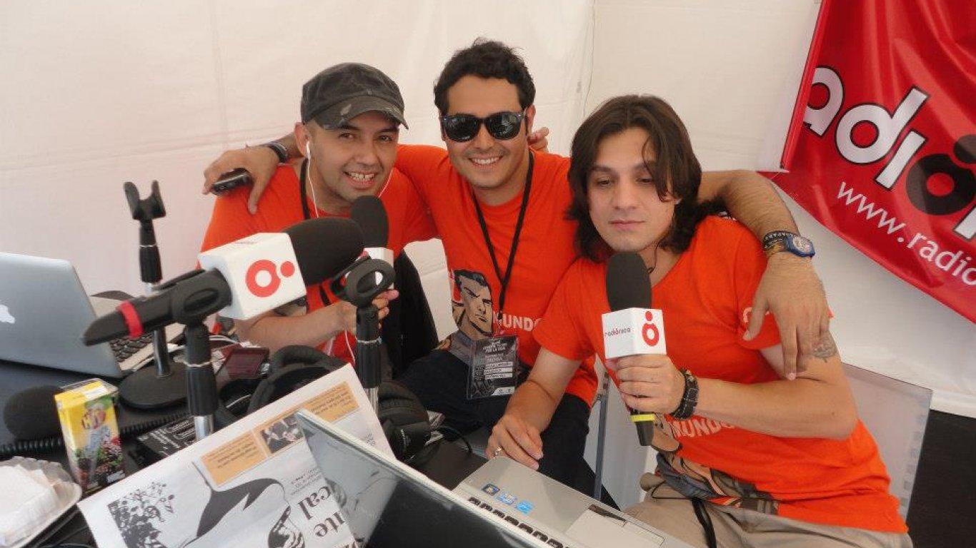 El Profe, Diego Londoño y Santiago Arango. Cubrimiento del Festival Altavoz 2012.