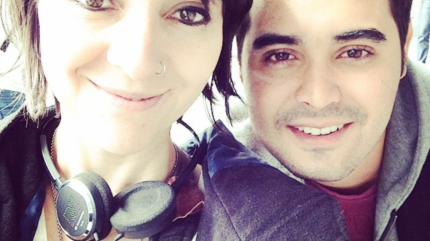 Selfie de Dahiana Rodríguez con Diego Londoño. Medellín. 2014.