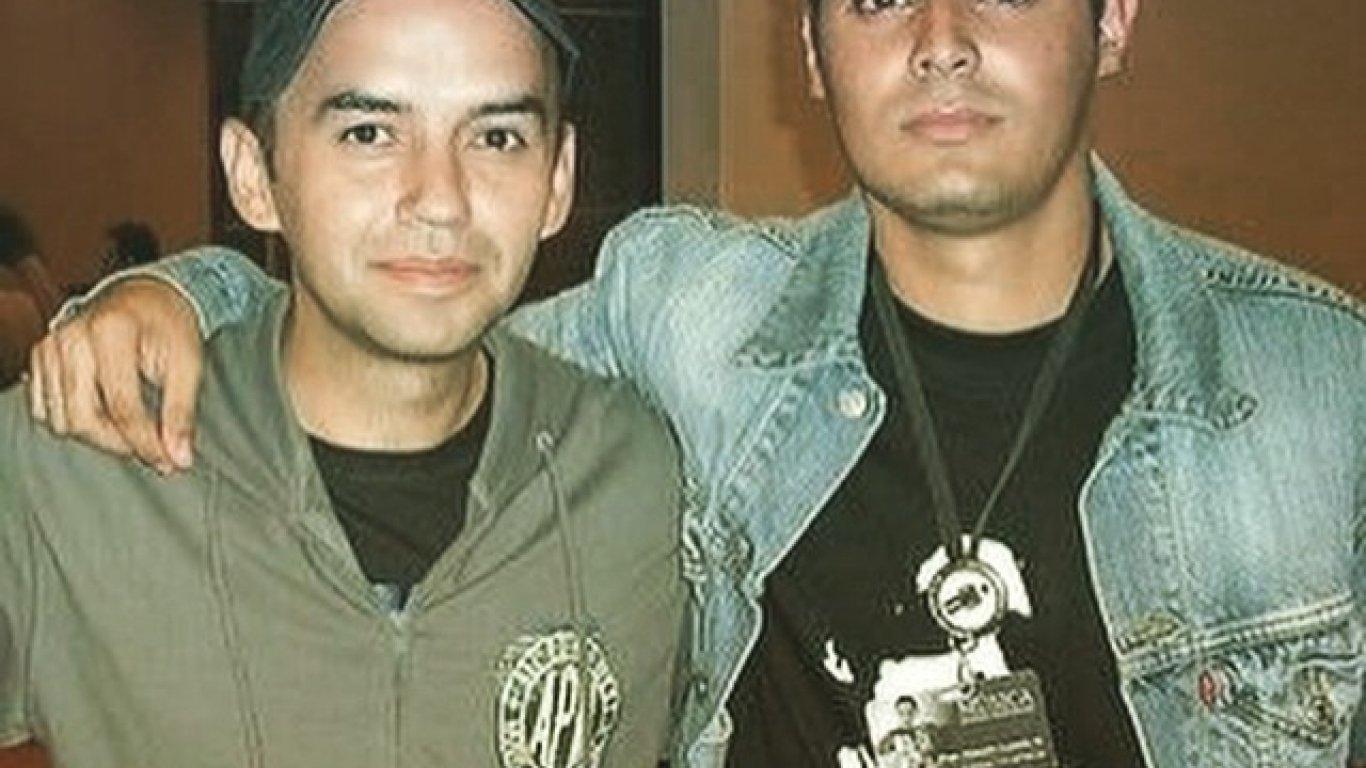Una de las priemras fotos de Diego Londoño (equipo Medellín) con El Profe. 2008.
