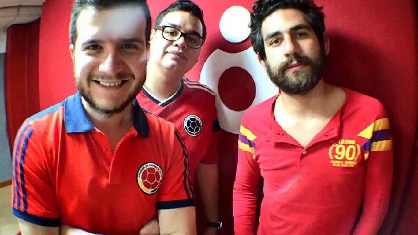 Diego Bolaños, Pipe Reyes y Andrés Salazar de #DíasDeRadio, apoyando a la Selección Colombia en el Mundial Brasil 2014.