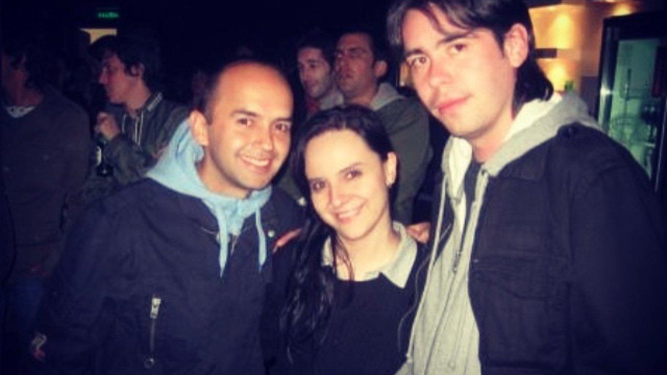 El Profe, Dahiana e Iván García. Al fondo Philippe Siegenthaler. Hace ya varios años.
