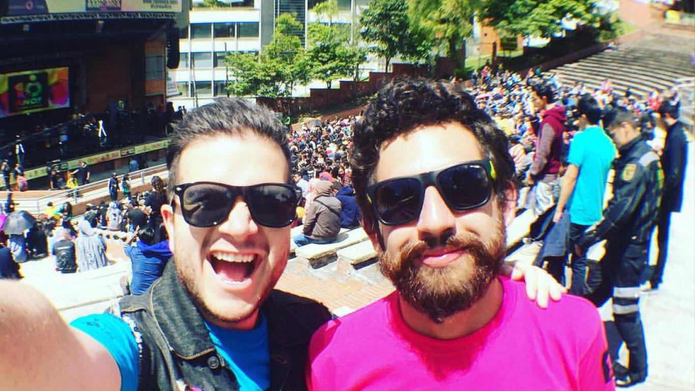 Diego Bolaños y Andrés Salazar en el #CR10Años. Coequiperos y amigos.