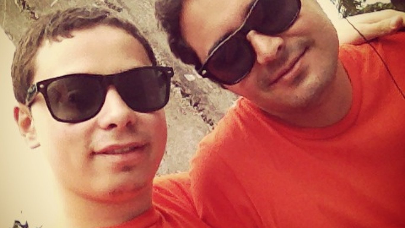 Sebastián Martínez y Diego Londoño, parte del equipo de Medellín en el #CR10Años. 12 de Septiembre de 2015