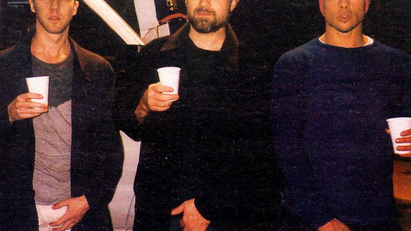"Edward Norton, David Fincher, Brad Pitt en ""El Club de la pelea"""