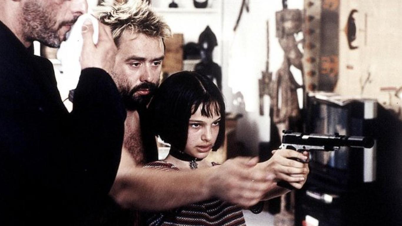"""Luc Besson y Natalie Portman en """"El perfecto asesino"""""""