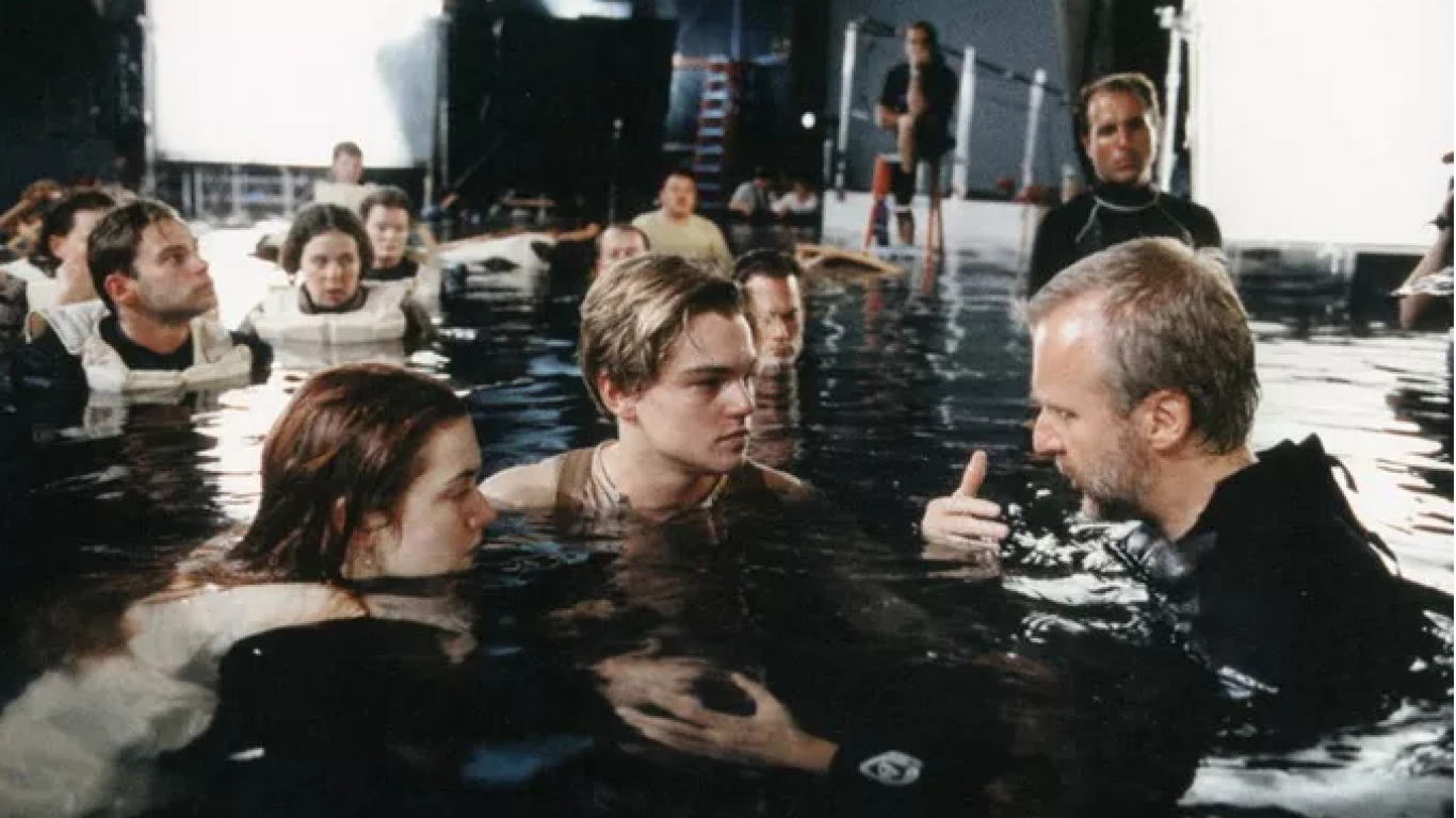 Leonardo Di Caprio, Kate Winslet y James Cameron