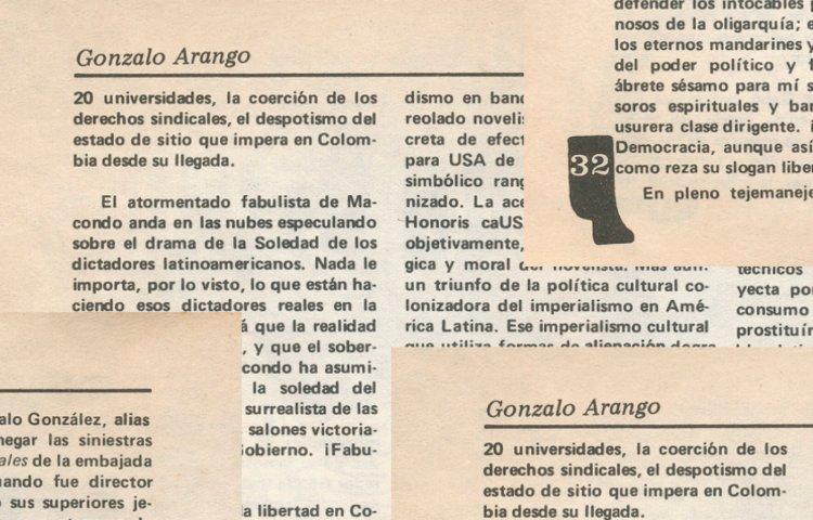 Gonzalo Arango y el Nadaísmo