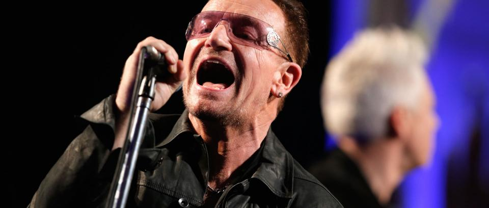 Bono. Foto de Joe Scarnici Getty Images para J/P Haitian Relief Organization
