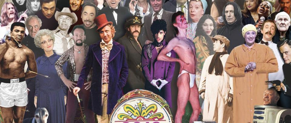 Los que nos dejaron en el 2016 (a lo Sgt. Pepper's de The Beatles)