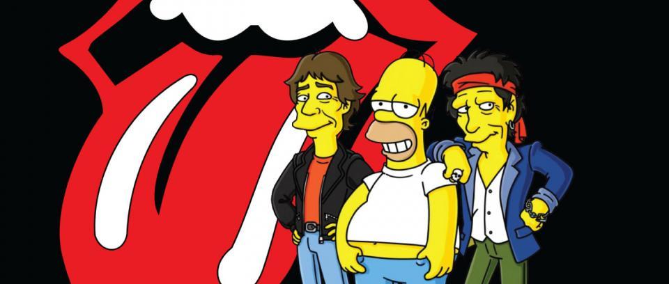 10 bandas de rock en Los Simpson
